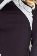 Dámske šaty na zips s rukávom 2668