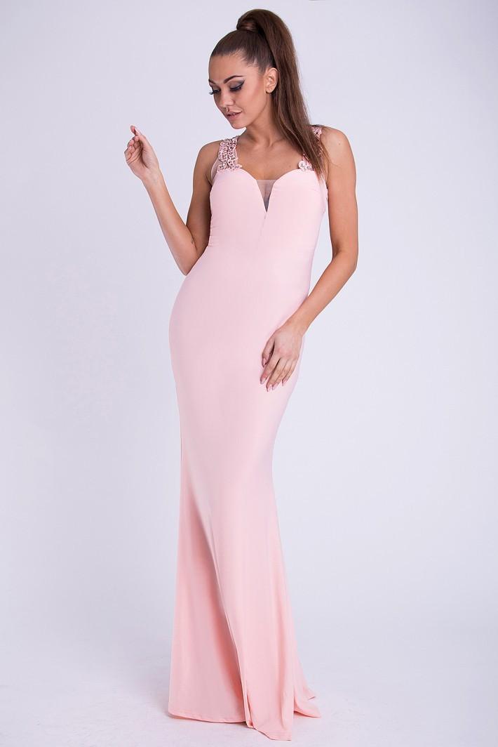 Spoločenské a koktejlové šaty - Ružová farba - Spoločenské šaty Online 732e59a8a6
