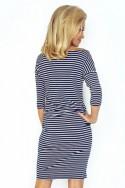 Pásikavé námornícke šaty 2917