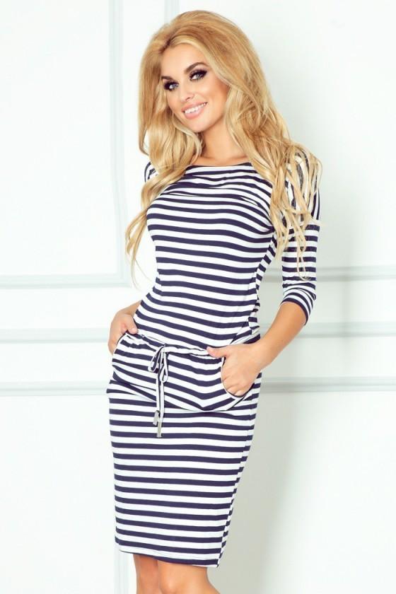 Pásikavé námornícke šaty 2919