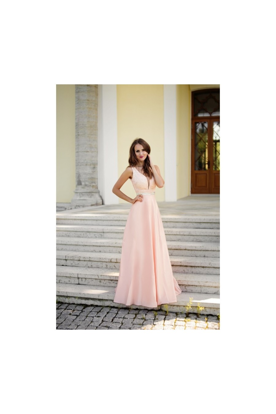 Romantické spoločenské šaty 3048