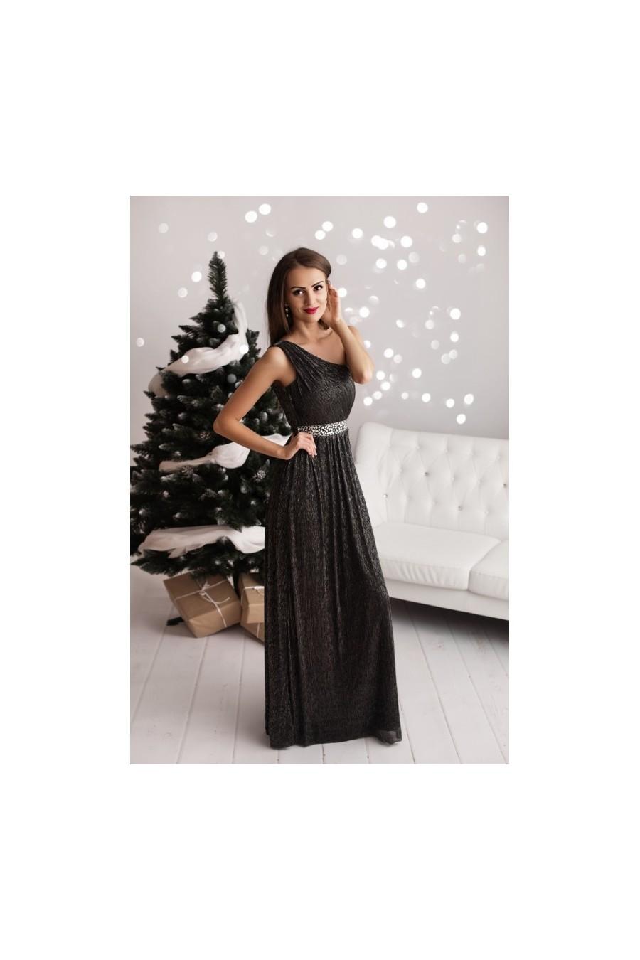c5f91c75b4 Dámske šaty na jedno rameno 3219 - Spoločenské šaty Online