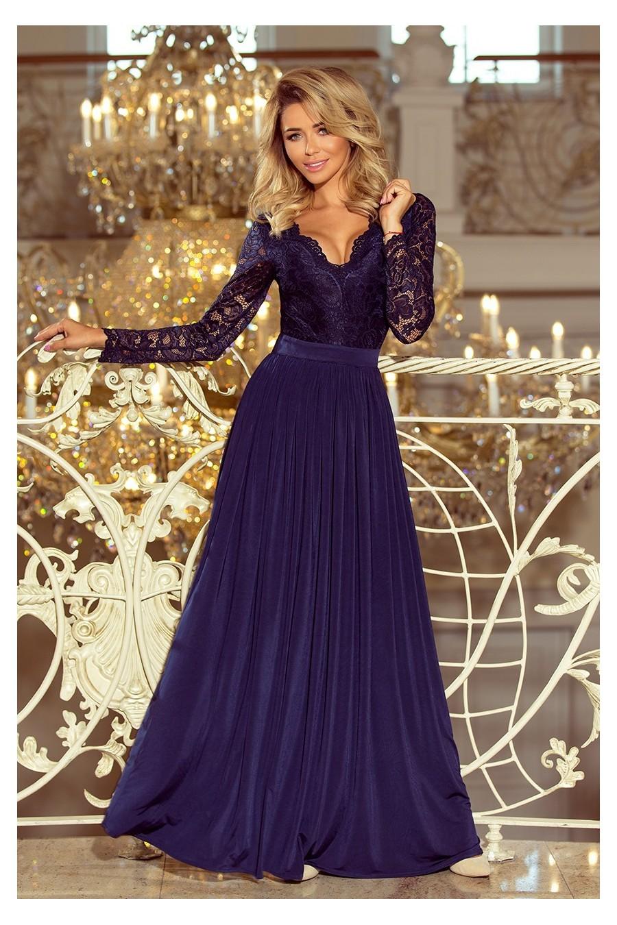 0d2c3e222a1d Nádherné spoločenské šaty s rukávom 3283 - Spoločenské šaty Online