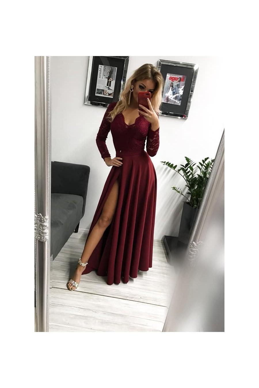 Dámske šaty s rukávom 3310 - Spoločenské šaty Online a7b71af3db6