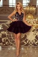 Nádherné šaty so skladanou sukňou 3351