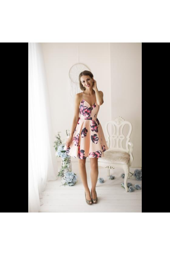 Dámske kvetované šaty 3407