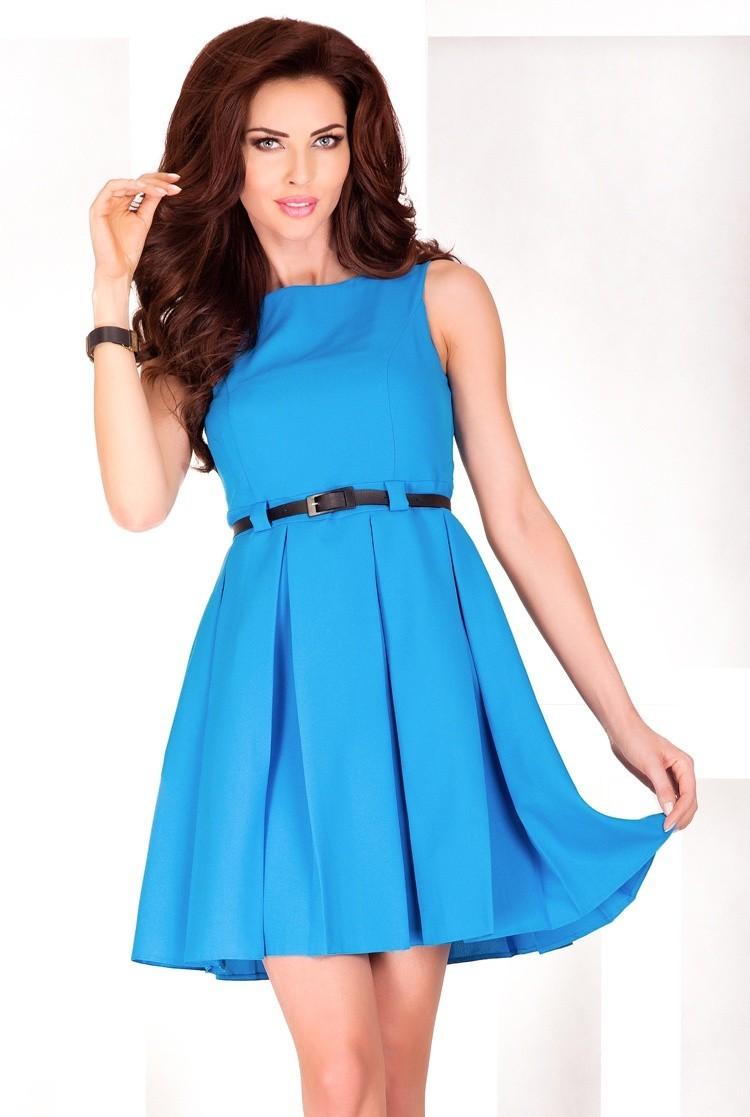 Spoločenské a koktejlové šaty - Modrá farba - Spoločenské šaty Online 6b887d6cebd
