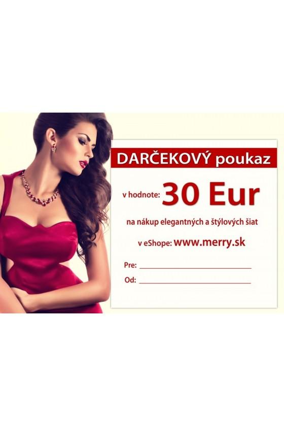 Darčekový poukaz 30 +BONUS