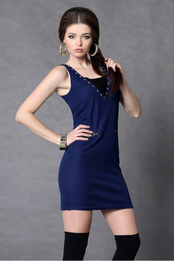 21b8bd37cc3e Spoločenské a koktejlové šaty - Modrá farba - Spoločenské šaty Online