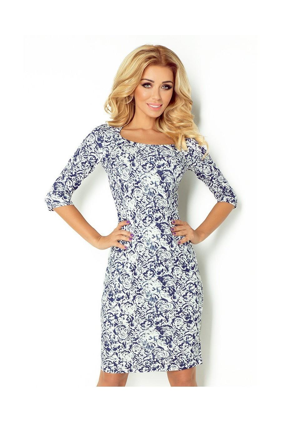 748cfca9e0c8 Dámske šaty s rukávom 2487 - Spoločenské šaty Online