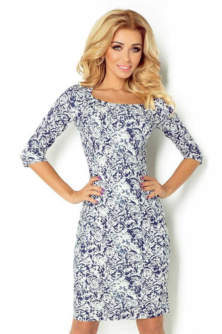 d6dbf2c97 Dámske šaty s rukávom 2487 - Spoločenské šaty Online
