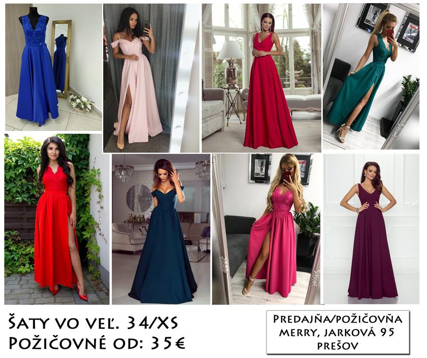 9108799aa7f1 Spoločenské šaty na požičanie už od 35€