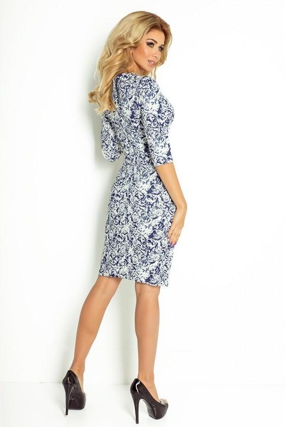 Dámske šaty s rukávom 2809