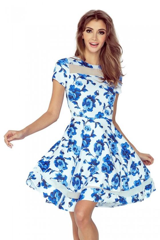 Dámske kvietkované šaty 2946