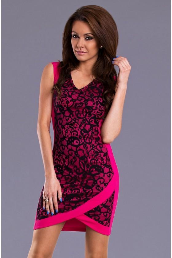 Elegantné čipkované šaty 3052
