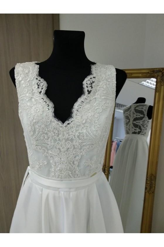 Svadobné šaty s rázporkom 3189