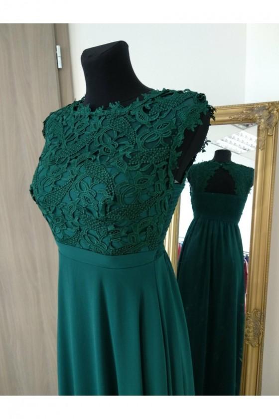 Elegantné spoločnské šaty s čipkou 3236