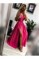 Spoločenské šaty s rázporkom 3262