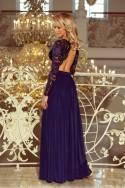 Nádherné spoločenské šaty s rukávom 3283