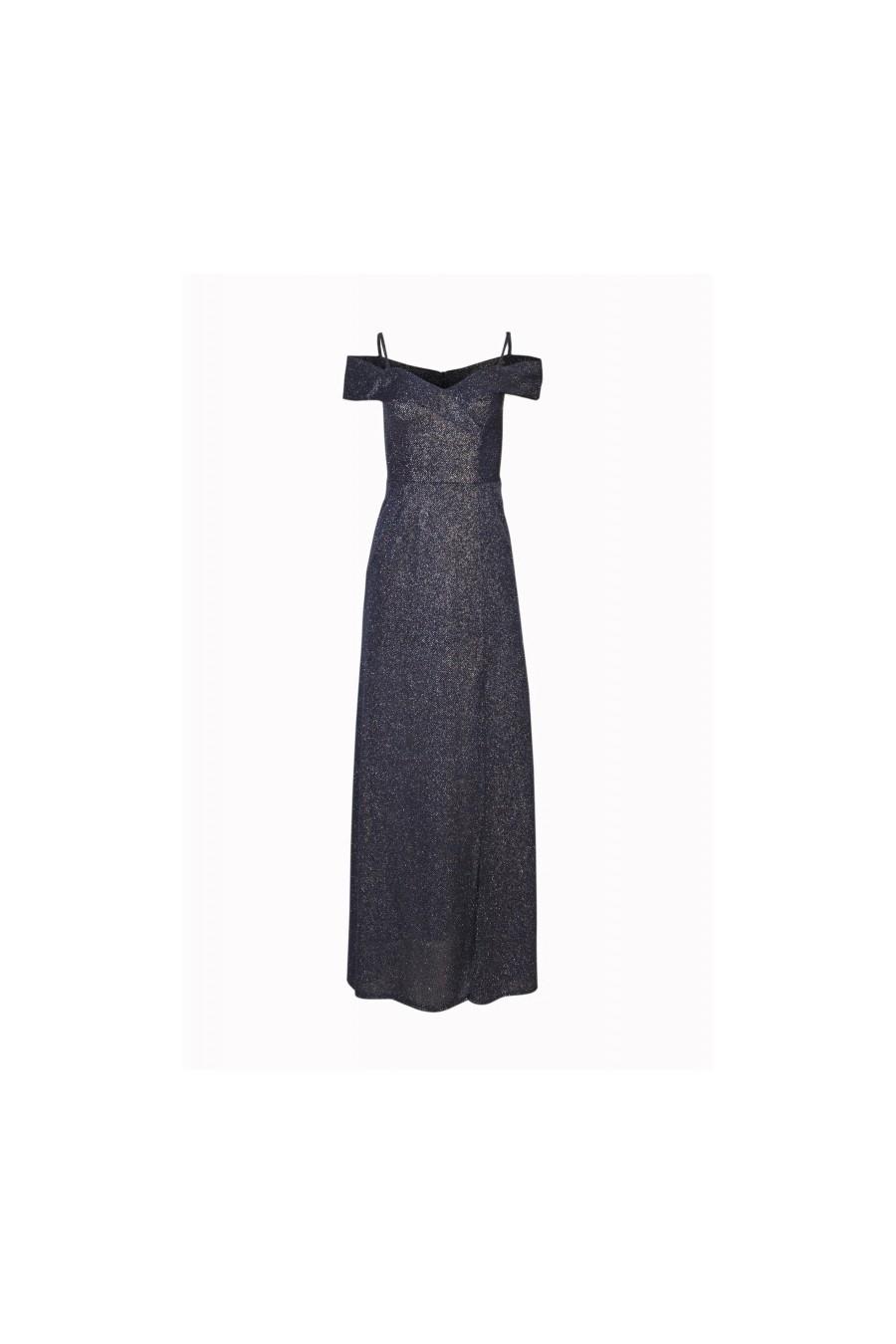 Pôvabné spoločenské šaty s rázporkom 3332