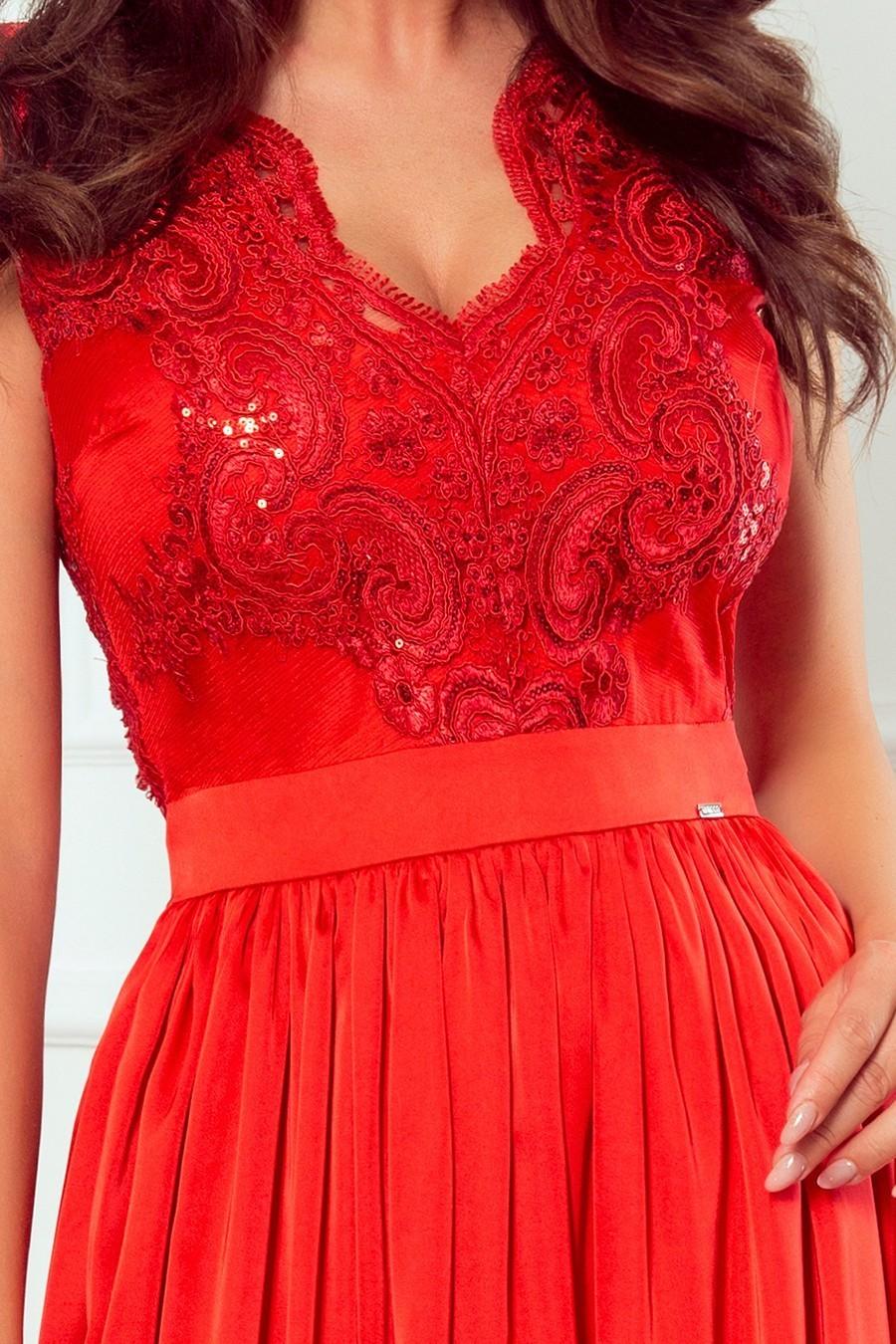 Čipkované spoločenské šaty 3425