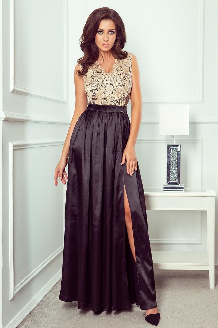 Spoločenské šaty s čipkou 3426