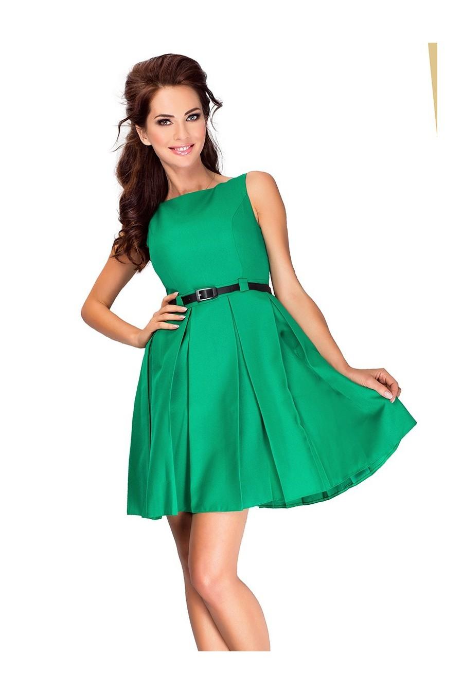 6-12 šaty s složence - zelene