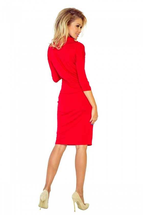 Sportovní šaty se závaznými - cervene 44-13