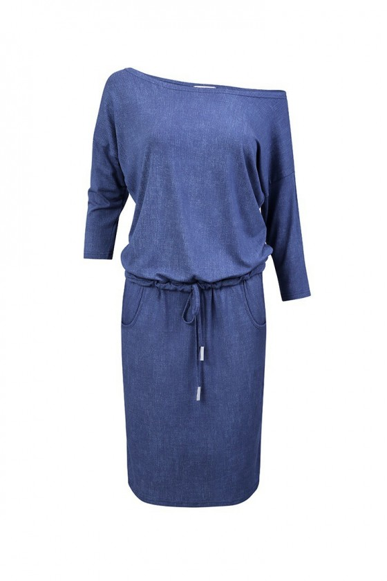Sportovní šaty - modry jeans 13-20