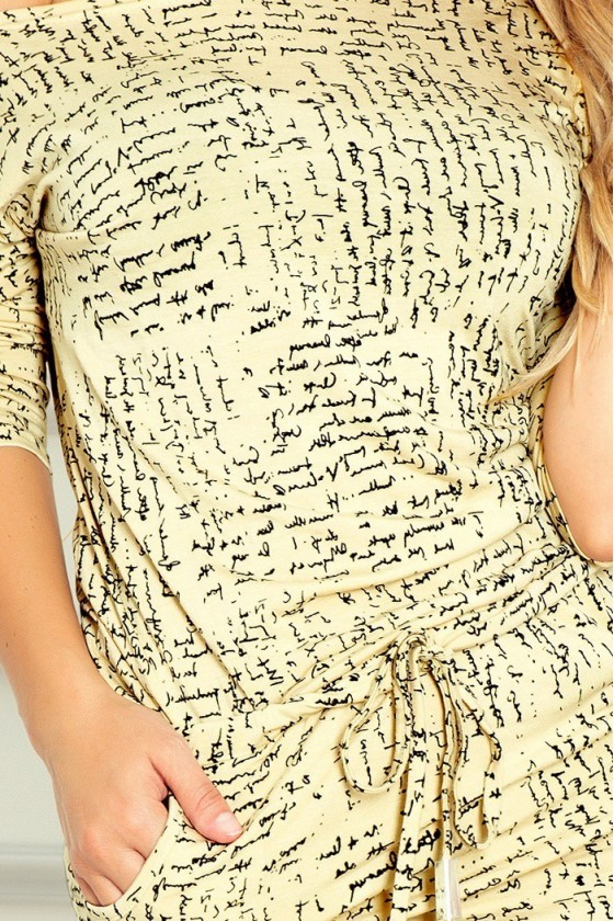 Sportovní šaty - papír + béžová 13-36