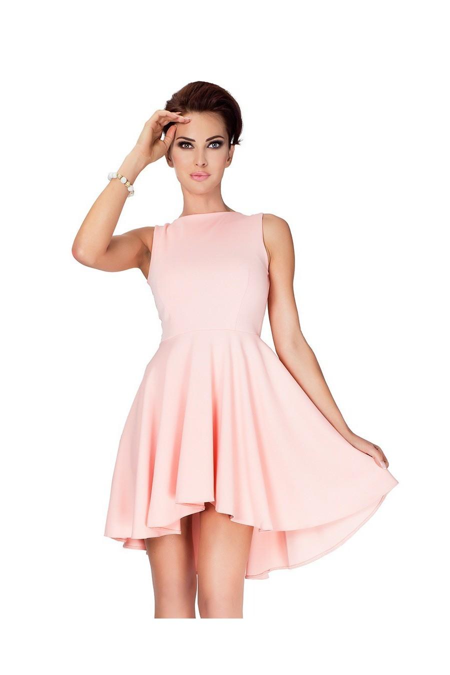 Lacosta - Exclusive asymetrické šaty - broskev 33-1
