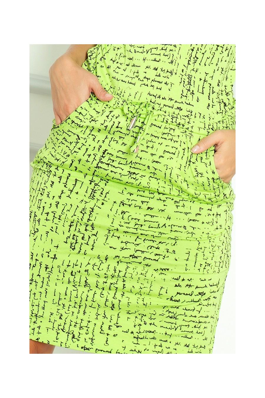 Sportovní šaty - papír + zélená 13-35