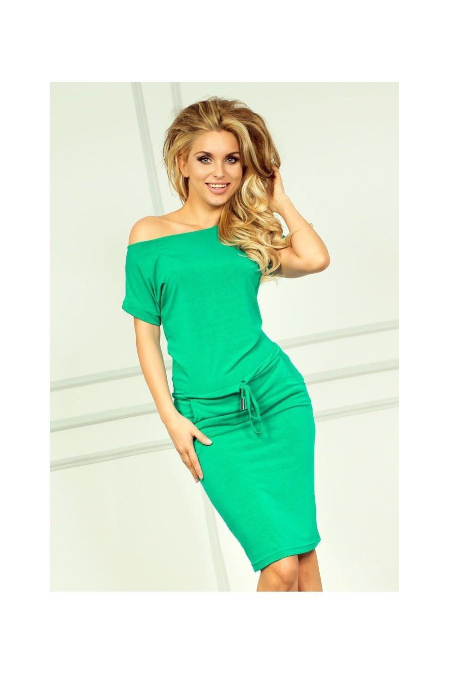 Sportovní šaty - NEON zelená 56-2