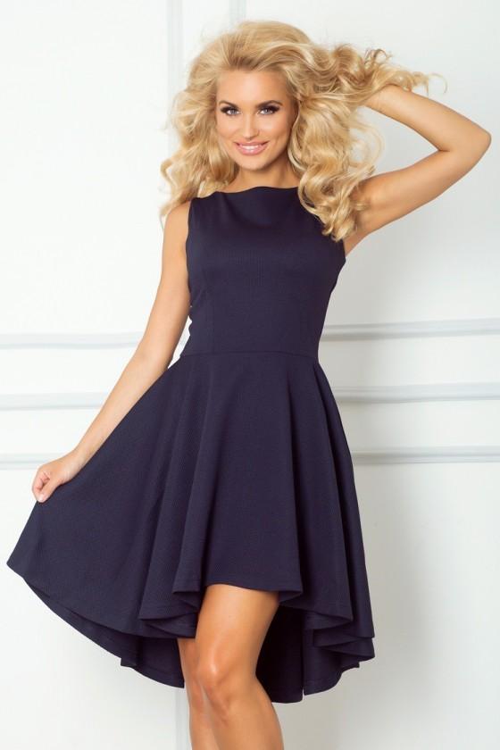 Lacosta - Exclusive asymetrické šaty - tmave modre 66-1