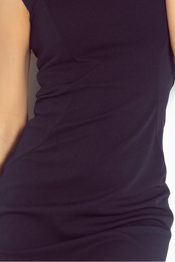 Přiléhavé šaty - tmave modre 53-12