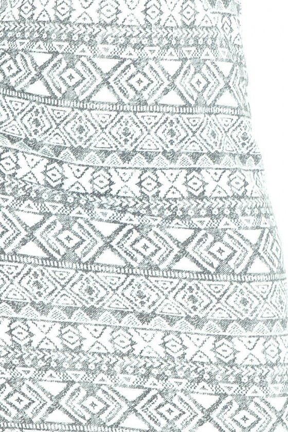 Přiléhavé šaty - ecru + sedy 53-15