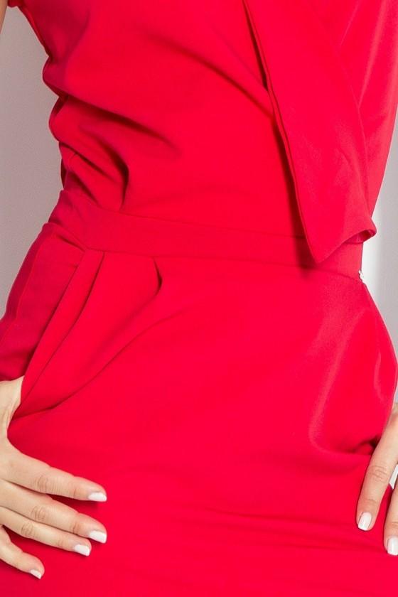 Šaty předpokládat, výstřih - cervená 94-2