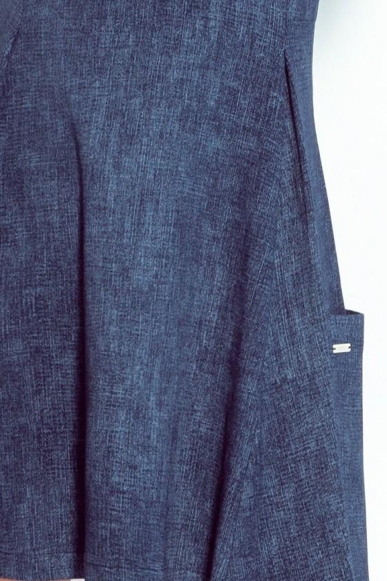 Contrafold šaty s kapsami - tmavě modré rifle 99-2