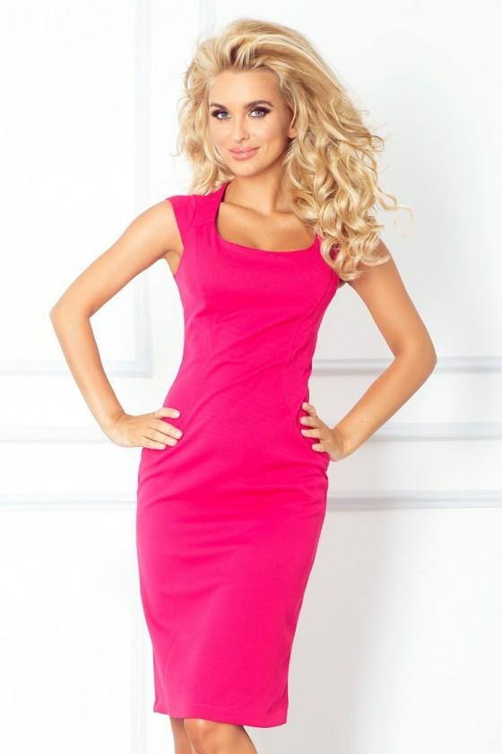 Přiléhavé šaty - ruzove 53-11A
