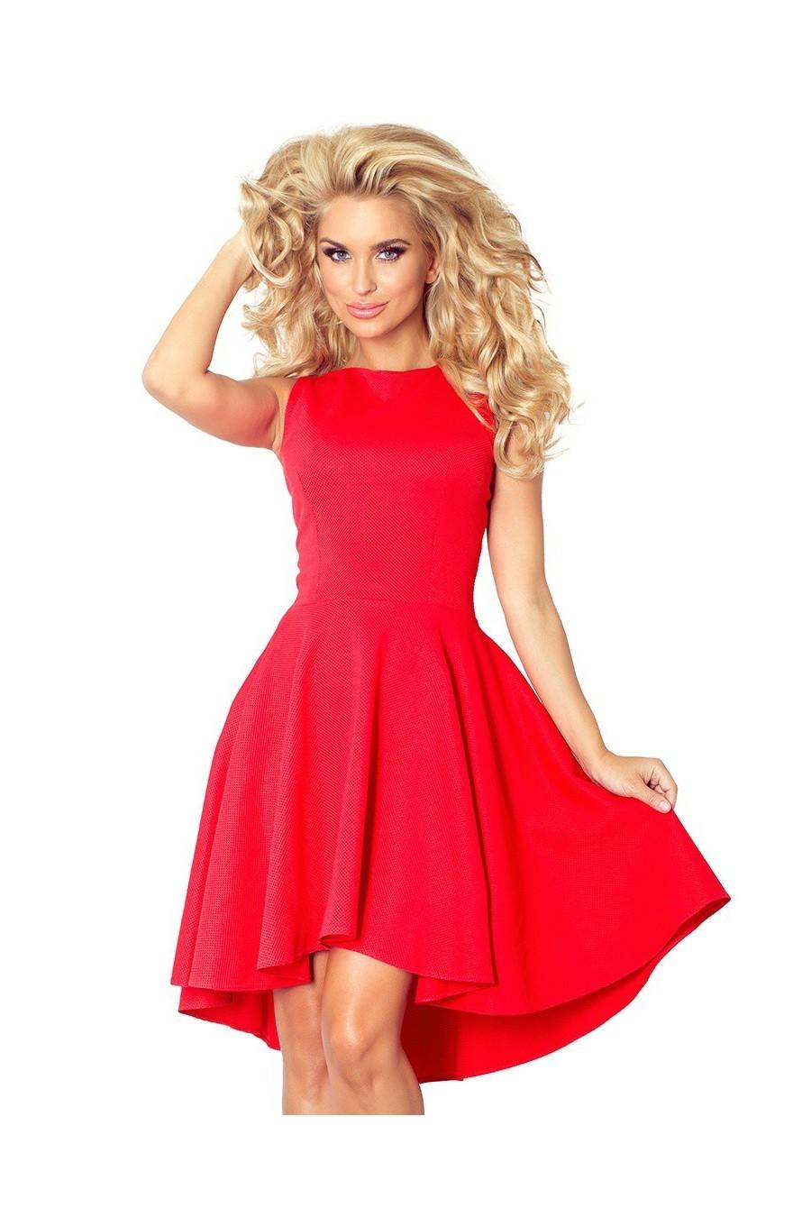 Lacosta - Exclusive asymetrické šaty - cervena 66-12
