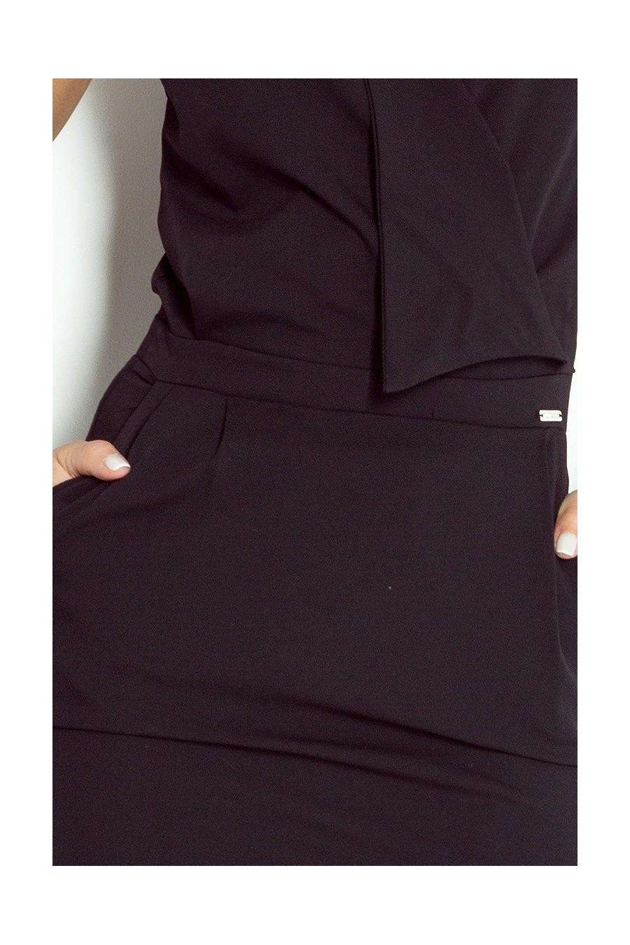 Šaty předpokládat, výstřih - cerná 94-4