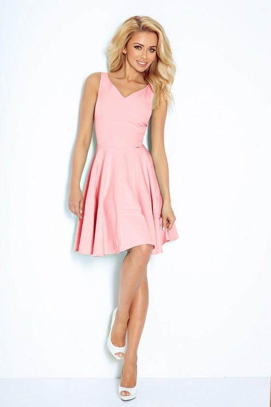 Dress circle - heart-shaped neckline - ruzove 114-5