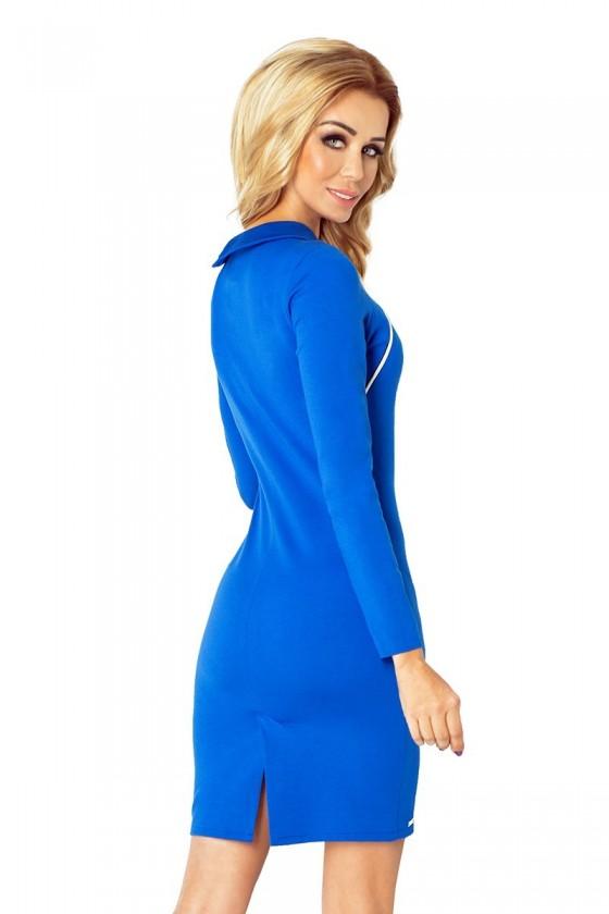 130-4 šaty se 2 zámky - modrá