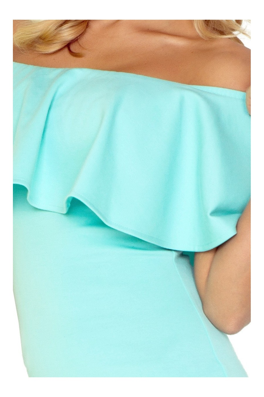 Šaty s límcem - máta 138-1