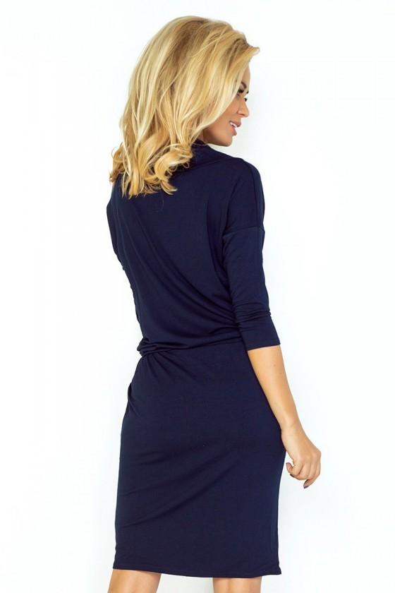 Sportovní šaty se závaznými - tmavě modre 44-6