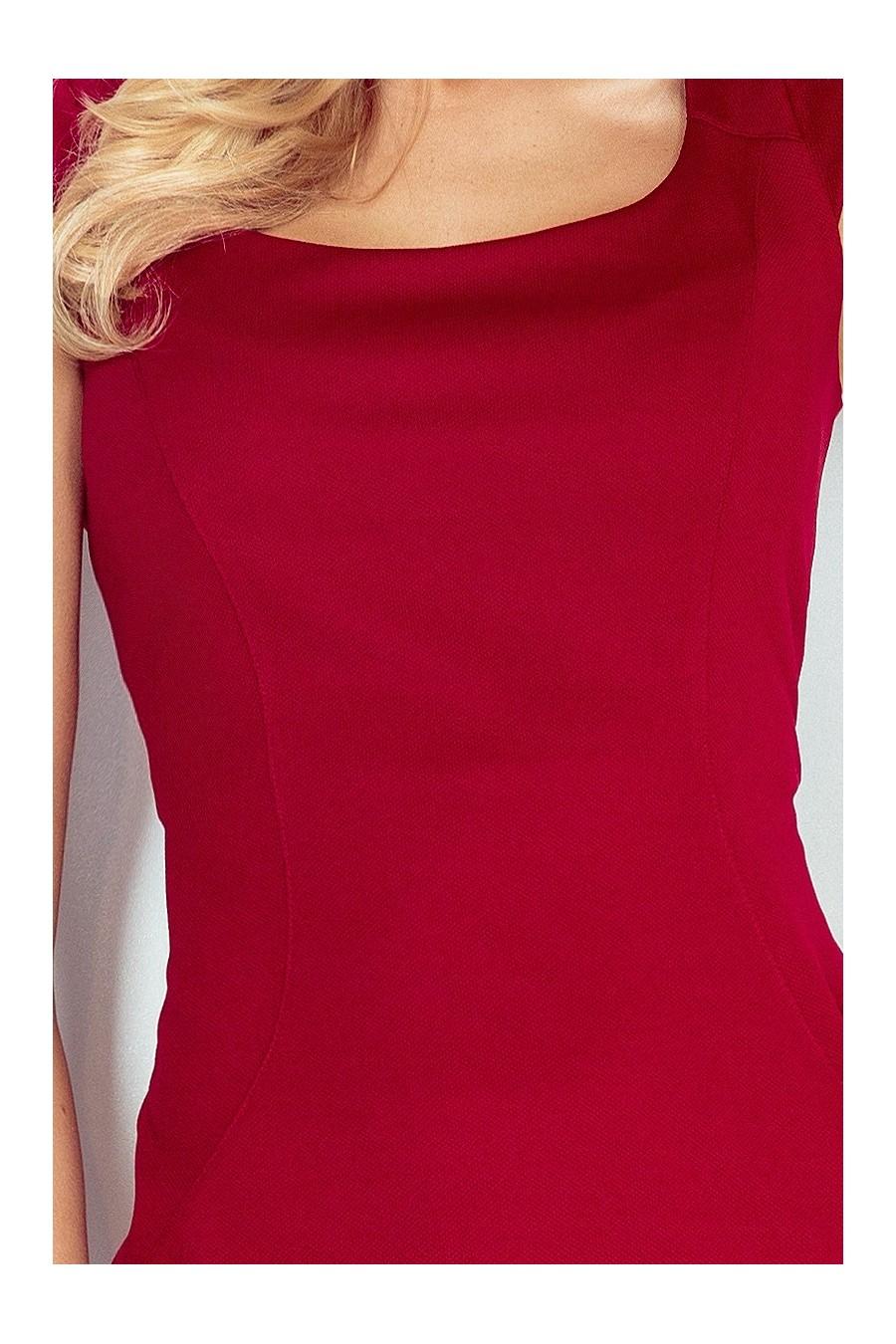 Přiléhavé šaty - tmavě červená 53-31