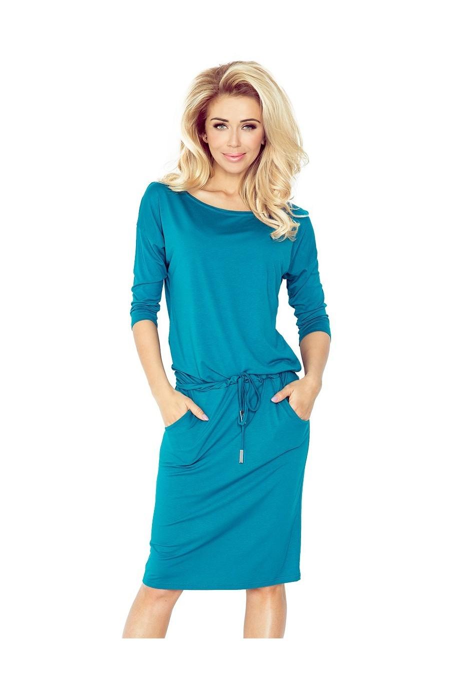 13-63 Sportovní šaty - modrozelený