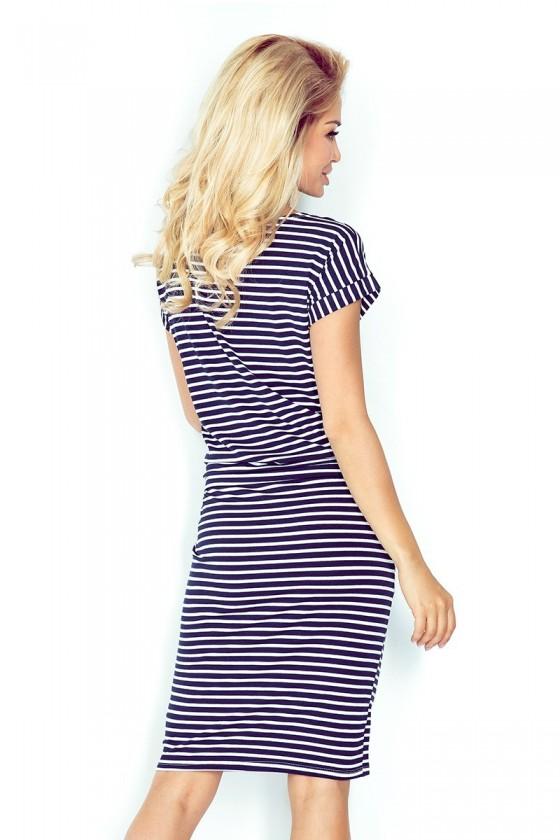 Sportovní šaty s krátkým rukávem - proužky 0,5x1cm 139-1