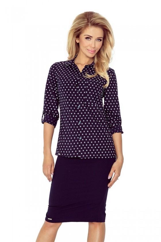 Košile s kapsami - hvězdička + tmavě modrá MM 018-4