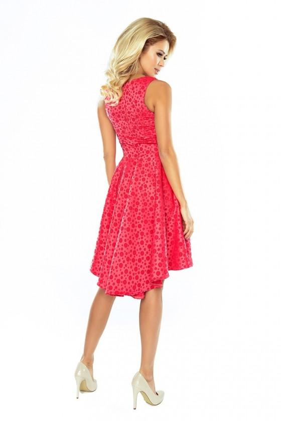 Exclusive asymetrické šaty - ruzova 175-2